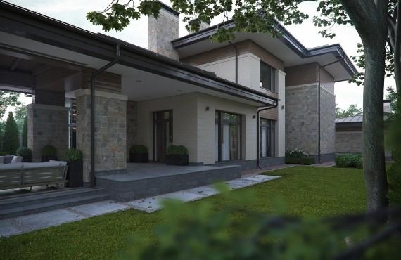Задний двор - боковой фасад