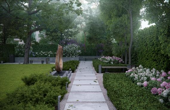 Основной двор - садовые дорожки