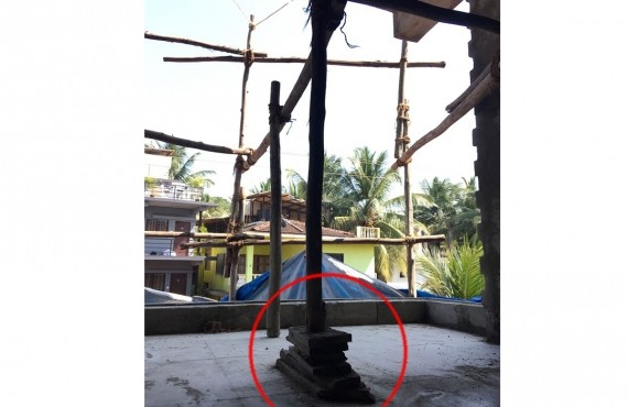Counterbalance support for scaffolding