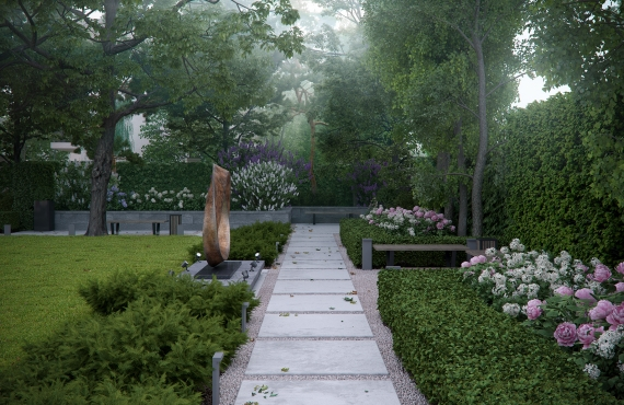 Main yard - garden paths