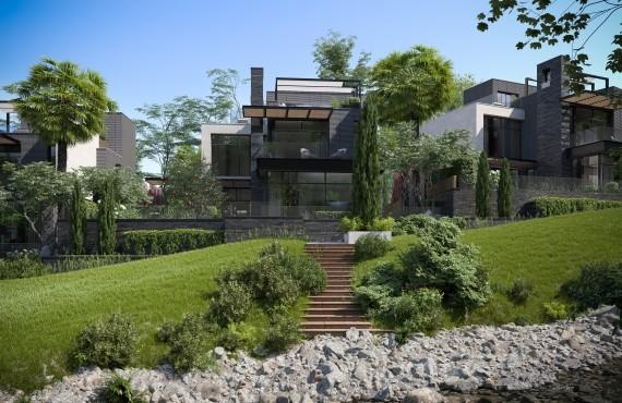 Вид на дом со стороны речки